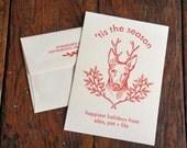 Custom Letterpress Holiday Cards