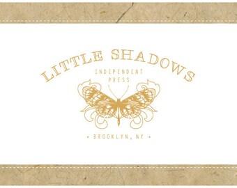 Custom Logo Design - PreDesigned Logo - PreMade Logo - Vector Logo - OOAK Logo -  LITTLE SHADOWS Logo Design - Butterfly Logo - Moth Logo