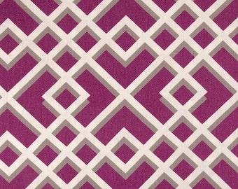 Radiant Orchid Lattice Designer Pillow Cover modern accent cushion mod pink fuchsia trellis hollywood regency geometric grey raspberry plum