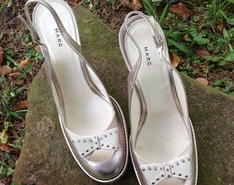 Marc Jacobs Platinum Shoes with Bow