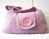Hand Knitted Bag Small Pink Evening Bag