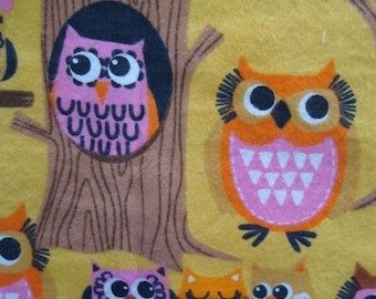 Tree Owls - Cotton FLANNEL Fabric - BTY