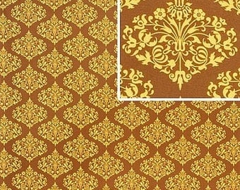 Amy Butler - Midwest Modern II - Park Fountains - Brown - Cotton Quilting Fabric BTY