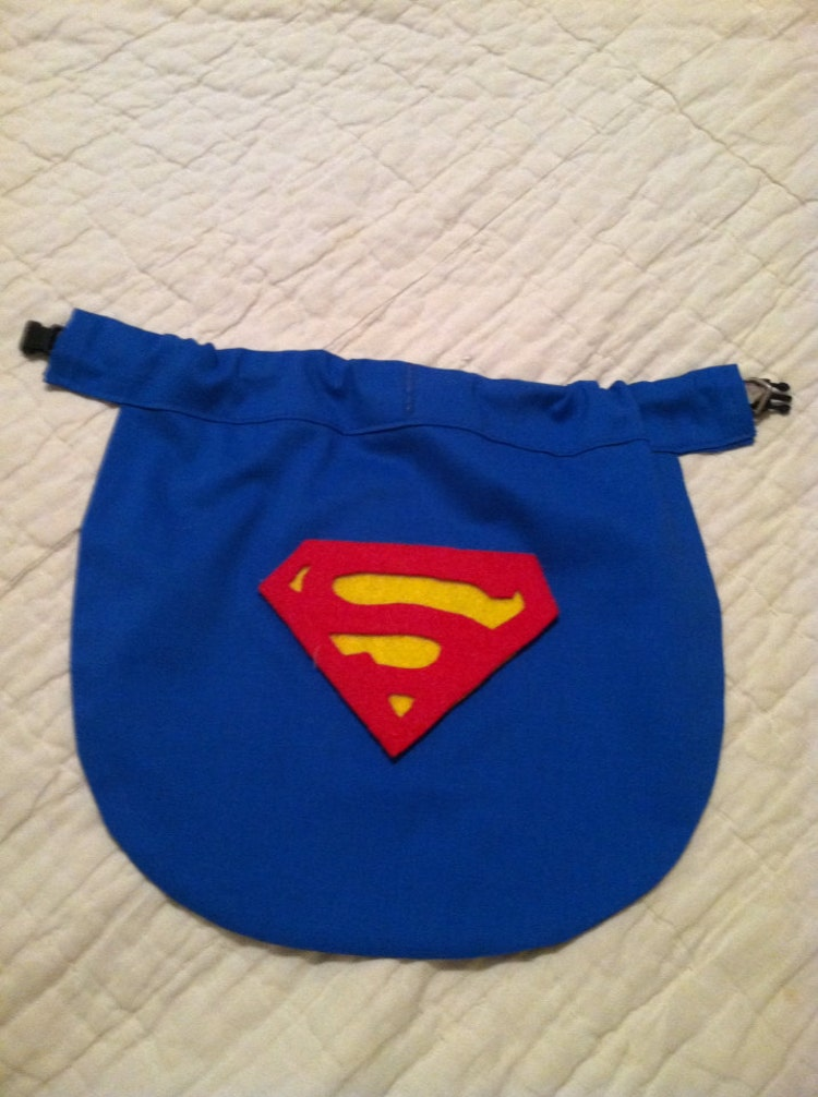 Small Dog Superman Superhero Cape Slides Right By