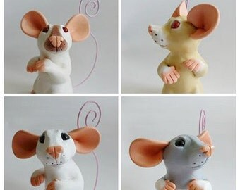 CUSTOM  Rat Ornament Memo Rat Holder Rat Sculpture Fancy Rat