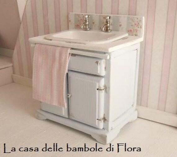 Shabby chic bathroom sink 1 12 dolls house by floradollhouse - Shabby chic bathroom sink ...