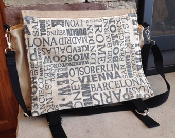 Cities messenger bag