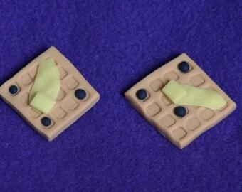 1 waffle doll food for American Girl dolls