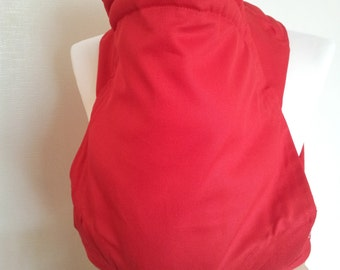 MEI TAI Baby Carrier / Sling / Reversible / Red / Straight Cut Model