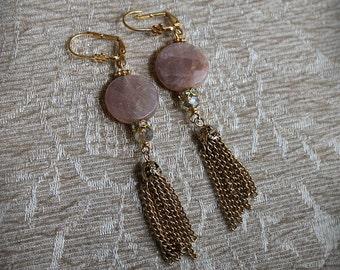MOONGLOW Pink Moonstone Earrings