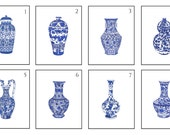 Pick Four Blue and White Chinese Porcelain Fine Art Prints