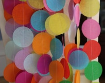 Custom Tissue Paper Garland, Photo Backdrop, Candy Table Backdrop, Party Garland, Birthday Garland, Wedding Garland, Shower Garland