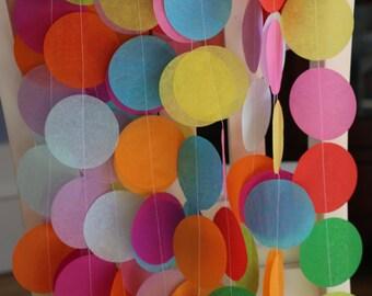 Custom Tissue Paper Garland, Photo Backdrop, Candy Table Backdrop, Party Garland, Birthday Garland, Wedding Garland, Shower Garland