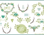 Blooming Wreaths, Laurels & Branches - Blog Graphics - Instant Download