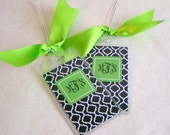 Luggage Tags  2 Personalized BLACK TREFOIL