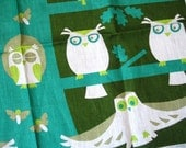 Whoooo are you. SUPER RARE and HTF owls Ulster linen kitchen towel, never used. Excellent vintage condition.