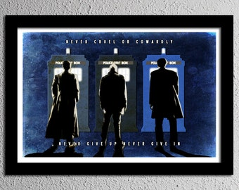 Doctor Who Day of the Doctor 50th Promise - Original Art Poster Print