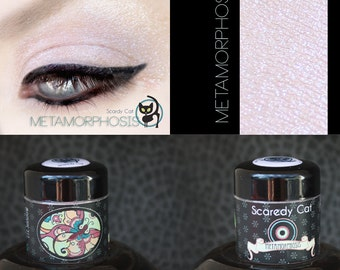 Duochrome Eye Shadow Pink - Vegan - Loose Mineral Pigment Eyeshadow - Scaredy Cat - METAMORPHOSIS - 5 mL Sifter