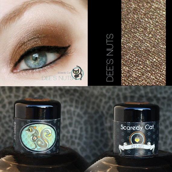 Golden Brown Eye Shadow  - Vegan - Scaredy Cat - DEE'S NUTS - 5 Gram Sifter