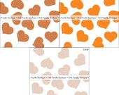 """SHIMMER HEART CONFETTI (100 pc) -- 1/2"""" or 3/4"""" -- Copper, Orange, Coral -- pif.pay it forward.aok"""