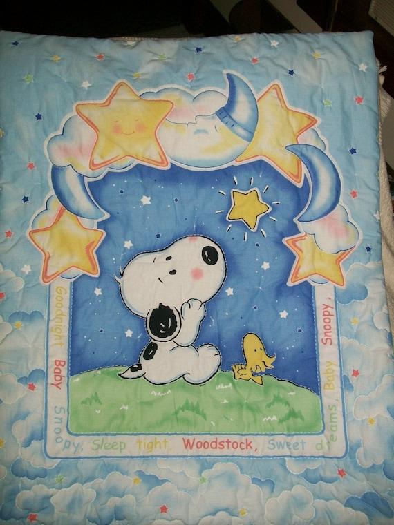Goodnight Baby Snoopy Baby Blanket
