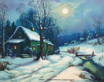 When Winter Comes Again Calendar Art Print