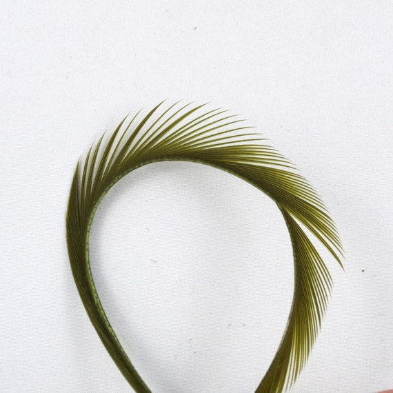 Feathers Goose Biots 4 Dyed Olive GBD08 craft feathers fly tying feathers