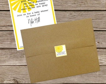 You Are My Sunshine - Envelope Seals/Favor Tags