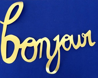 Bonjour papercutting! Handcut and custom made.