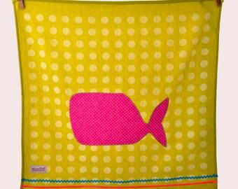 Tea towel Whale Lime