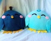 Mega Chicklets Plushies: Quail and Blue Bird
