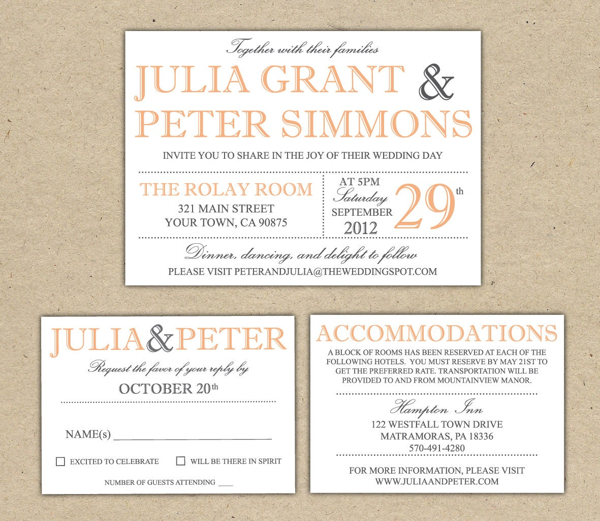 Wedding E Invitation Templates: Modern Wedding Invitation Template Printable DIY By