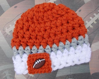 Texas Longhorns inspired baby hat  - NCAA football hat - photo prop - newborn  size - ready to ship