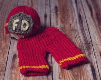 Newborn fireman set