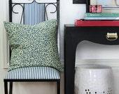 """Leopard Print Decorative Pillow Cover- Lime- Blue- 16x16"""""""