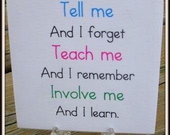 Teacher Quote Tile  Teachers Gift  Teacher Appreciation