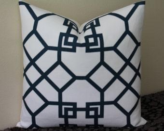 "SALE - SET of TWO - Kravet Xu Garden in Indigo - 20"" x 20"" Decorative Designer Pillow Covers"