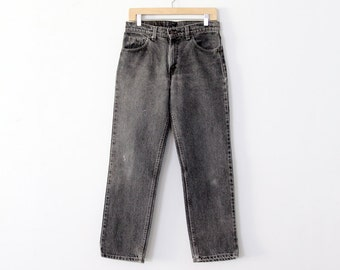 1980s black Levi's denim jeans, waist 31