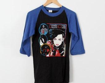 vintage Culture Club t-shirt, original Boy George baseball tee