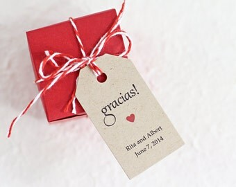 Thank You For Wedding Gift In Spanish : Wedding Favor Tag - Gracias Thank You in Spanish, Bridal Shower Favor ...