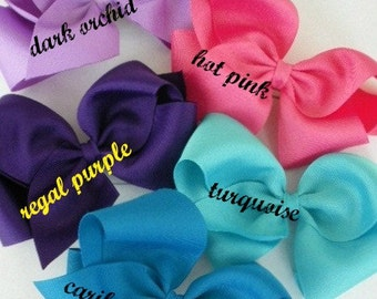 2  Extra Large Grosgrain  Boutique Bows  - You pick the colors Perfect for Back to School
