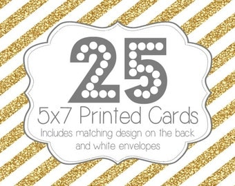 25 PRINTED INVITATIONS and white envelopes