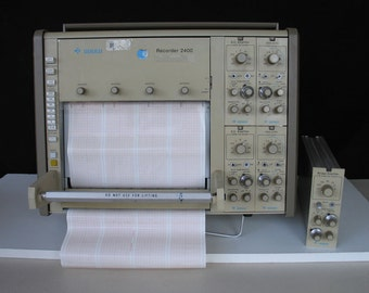 Oscilloscope - Gould 2400 Four Channel Thermal Strip Chart Recorder - Oscillographic Chart Recorder
