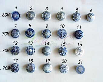 20 Sets Of Metal Snap Buttons - 1.6CM & 1.7CM - Bronze - Free Shipping