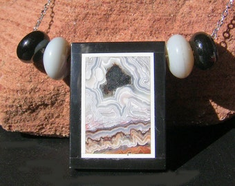 Black Hole Intarsia Necklace