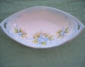 Vintage Serving Dish Porcelain Forget Me Nots Nippon Handled Dish