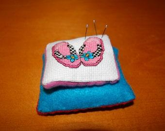 Cross Stitch Fun in the Sun Flip Flop Pin Cushion