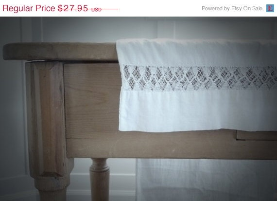 ON SALE Antique Bolster Pillowcase