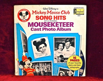 WALT DISNEY'S - Mickey Mouse Club...Songs and Hits - 1974 Vintage Vinyl Gatefold Record Album