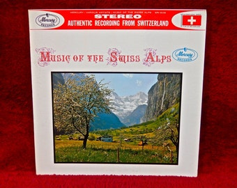 MUSIC of the SWISS ALPS -  Vintage Vinyl Gatefold Record Album